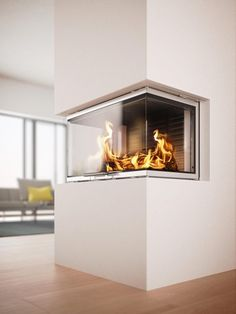 Rais Visio 3 Peninsula Stove is a stove insert, featuring a modern design. Rais Visio 3 Sided Stove is pending DEFRA approval. BMF offer a range of Rais wood burning stoves & fires, with free UK delivery & finance options. Inset Fireplace, Wood Burning Fireplace Inserts, Stove Fireplace, Fireplace Design, Fireplace Ideas, Minimalist Fireplace, Modern Fireplace, Inset Log Burners, Scandinavian Fireplace