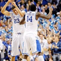 Davis and MKG!// love when davis actually smiles rather than his frowny face