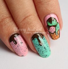 Nailpolis Museum of Nail Art | Nail art ice cream by Cherry Nail art