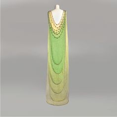 PARIS HAUTE COUTURE; A Magnificent Exhibition|Evelyne Politanoff  | Madeleine Vionnet, evening gown, 1924
