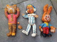 VINTAGE ORIGINAL RUBBER BENDY TOYS RUPERT BEAR ANDY PANDY MOUSE 1960s | eBay