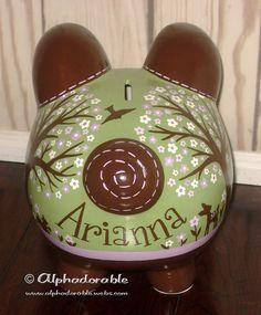 LARGE lavender green brown Willow Deer Artisan by Alphadorable