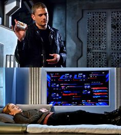 DC's Legends of Tomorrow Captain Canary - Part 1 / 2 Legends Of Tommorow, Dc Legends Of Tomorrow, Captain Canary, Leonard Snart, Michael Scofield, White Canary, Dominic Purcell, Supergirl And Flash, Wentworth Miller