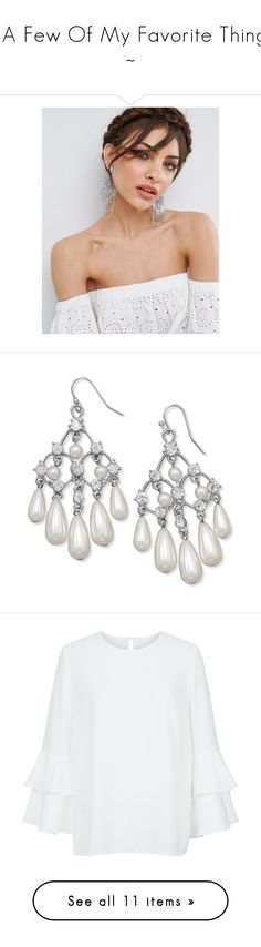 """""""~ A Few Of My Favorite Things ~"""" by romantiquechic ❤ liked on Polyvore featuring jewelry, earrings, silver, silvertone earrings, bullet jewelry, chandelier earrings, chains jewelry, silver chain earrings, tear drop earrings and crystal tear drop earrings"""