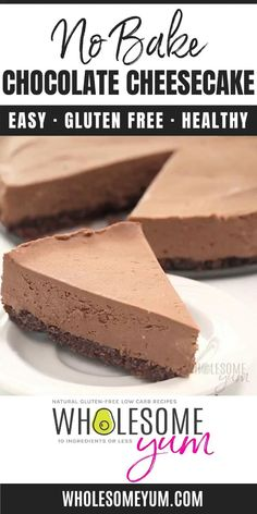 No Bake Chocolate Cheesecake, Low Carb Cheesecake, Easy Cheesecake Recipes, Dessert Chocolate, Dessert Recipes, Low Carb Chocolate Cake, Dinner Recipes, Keto Desert Recipes, Healthy Low Carb Recipes