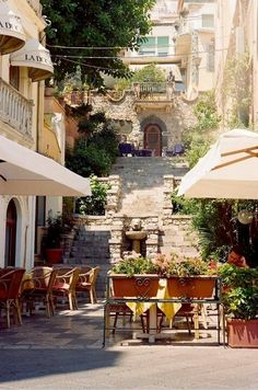 """Taormina, Sicily - love this place - where the movie """"The Godfather"""" was filmed."""