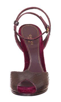 bd5a60f10df1 Burgundy Python Snakeskin Rose Open Toe High Heel Sandals