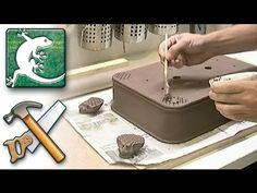 Making-of _ Rectangle bonsai pot - rounded corner -- Greg Ceramics.  No narration, but beautifully produced, clear illustration of technique and design.  Pots are available for purchase at www.greg-ceramics.com.