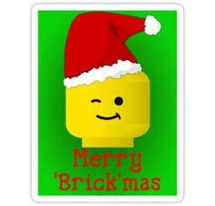 """Merry Christmas Santa Minifig "" Stickers by ChilleeW 