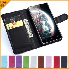 2015 Luxury Wallet PU Leather Flip Cover Case For Lenovo A536 Mobile Phone Case Back Cover With Card Holder Stand & Gift