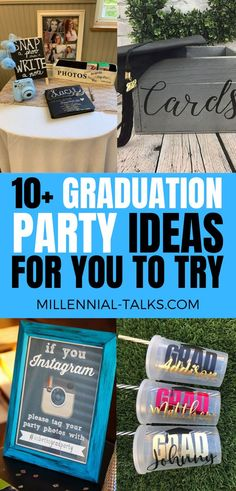 13 Graduation Party Ideas You Need To Try - Millennial Talks Graduation Party Desserts, Graduation Party Decor, Grad Parties, Graduation Ideas, A Little Party, Graduation Pictures, Party Looks, Party Photos, How To Take Photos