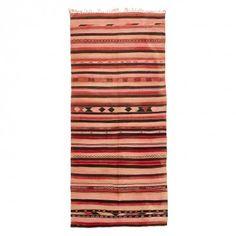 "Vintage Moroccan Flat Weave - 5'7""x12'4"""