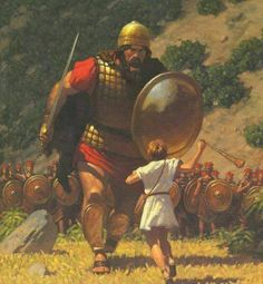 David stood up to a Giant and trusted in Jehovah.  Jehovah will help us too, we Just need to put our complete trust in Jehovah God. www.jw.org