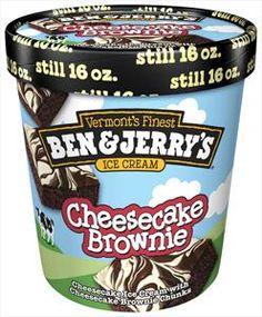 cheesecake ice cream Ben & Jerry's One Cheesecake Brownie Ice Cream, My first flavor- Brownie Ice Cream, Cheesecake Ice Cream, Cheesecake Brownies, Love Ice Cream, Best Ice Cream, Ben Und Jerry, Little Mix, Ice Cream Flavors List, Ice Cream Brands