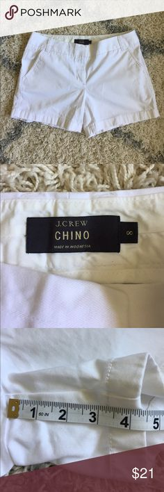 New J. Crew city fit chino shorts 8 J. Crew city fit chino shorts 8. Purchased by me at the retail store but never worn. I did wash them and iron them. No flaws. J. Crew Shorts