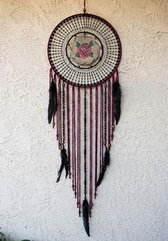 Radial Classic Rose Dream Catcher