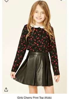 5cce2137cc145b Forever 21 Girls - A knit top featuring an allover cherry print
