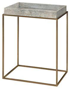 A La Carte Occasional Table, Gold/Smoke   Town