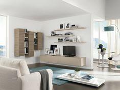 Wohnzimmer Einrichten Beispiele Blauer Teppich Stauraum Ideen Weiße Möbel