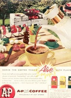 A COFFEE OUTDOOR BARBECUE ART Vintage Ad 1957 | eBay