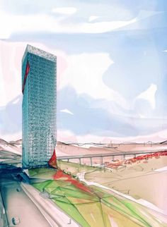 TAO Office Tower | Suyabatmaz Demirel Architects    Love this render