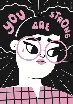 You Are Strong Framed Art Print by Camila Rosa - Vector Black - Feminist Quotes, Feminist Art, Feminist Apparel, Power Girl, You Are Strong, Grafik Design, Camila, Girls Be Like, Art Inspo