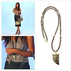Check out @POPSUGAR's latest 'Inspired by Nature' video feature on their website fabsugar.com with @Allison McNamara... the gorgeous model wears @Heather Gardner Jewelry boho bracelets and #heathergardner Tibetan Decor Horn Necklace