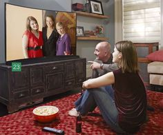 When the last guest has (finally) gone, boot up video footage of the festivities on a 55-inch ultra-high-definition curved TV screen, Samsung's HU9000. Had enough of you-know-who wearing the lampshade on his head? Talk into the remote's mic to launch apps, stream games, and surf the Web. | samsung.com | Photo: Tara Donne