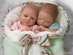 Madison And Mason Lifelike Twin Baby Doll Set Baby Doll Set, Real Baby Dolls, Realistic Baby Dolls, Twin Babies, Reborn Babies, Triplets, Twins, Donna Lee, Ashton Drake
