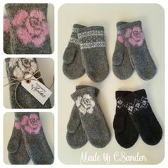 Knitted mittens- tova votter- Jan. -16