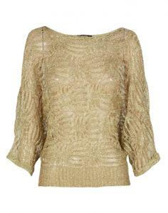 Gold Lurex Mesh Knitted Top  £12.95 #ChiaraFashion