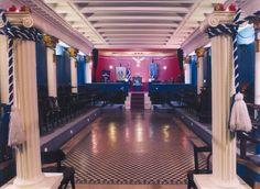 Lodge room inside the Grand Lodge of Greece