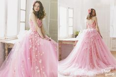 How adorable is this pink floral gown from Yumi Katsura Japan? Refreshing, sweet, and utterly romantic!