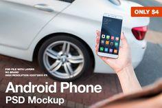 Android Phone Lifestyle Mockup by JESHOOTS.com on @creativemarket