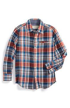 Boy's Tucker + Tate Plaid Woven Cotton Shirt