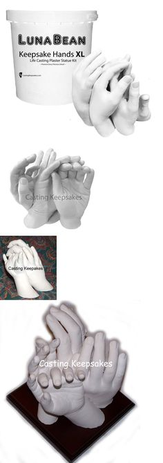 Keepsakes and Baby Announcements 117388: Luna Bean Keepsake Hands -Xl- Casting Kit Large Plaster Statue Hand Cast Family -> BUY IT NOW ONLY: $69.7 on eBay!