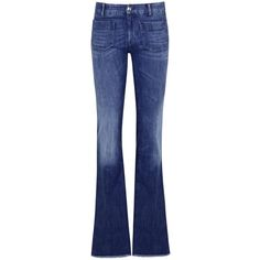 Womens Flared Jeans Seafarer 420 Penelope Dark Blue Flared Jeans ($330) ❤ liked on Polyvore featuring jeans, flared jeans, mid-rise jeans, dark blue jeans, mid rise flare jeans and flare jeans