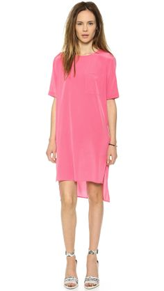 DKNY Short Sleeve Tunic Dress via StyleList