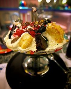 ice cream sundae with...everything on top.