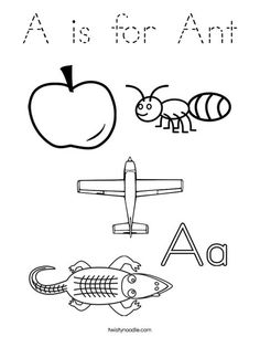printable letter coloring pages - Letter A Alligator Coloring Pages