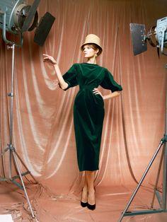 The green velvet dress by Ulyana Sergeenko. Just like in my dreams