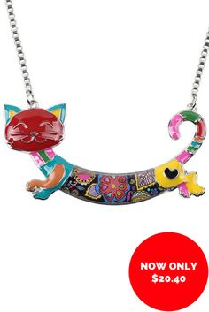 Get this purr-fect Cat Necklace NOW ON SALE! Cat Necklace, Black Friday Deals, Cyber Monday, Cat Lovers, Cats, Jewelry, Fashion, Moda, Gatos