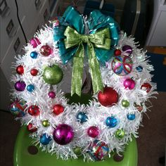 Wreath made with clearance stuff from Target!