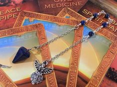 Reveal Your Inner Truth with this Lapis Lazuli Pendulum Handmade Necklaces, Handcrafted Jewelry, True Gift, Lava Bracelet, Sparkly Jewelry, Pretty Necklaces, Daughter Love, Lapis Lazuli, Jewelry Making