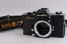 [Exc++] Minolta SR 505 SLR Camera Black w/Genuine Strap from Japan #79-5204032 #Minolta