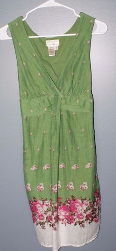 Max studio specialty products green floral sundress dress womens size M #MaxStudio #Sundress #Casual