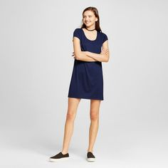 Women's Short T-Shirt Dress Navy (Blue) XS - Mossimo Supply Co. (Juniors')