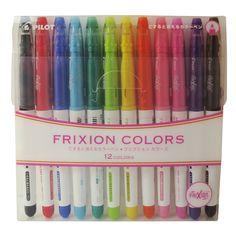 Pilot Frixion Colors 12C SFC-120M12C (japan import); erasable markers