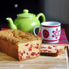 Cherry Loaf Cake   Ingredients:    8 oz. crm chz, sftnd  1 c butter sftnd  1 1/2 c sugar  4 eggs  1 tsp bak pow  1/2 c almonds - chopped  1 1/2 tsp almond extract  1 1/3 c flour  2/3 cup of flour to roll the cherries in  3/4 cup marachino cherries, well drained  ((chocolate chips?!!!))  Preheat oven to 325 - coat cherries and almonds in flour - bake 1 hr - til t'pick comes out clean.