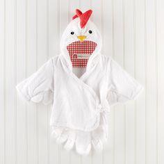 """Barnyard Bathtime"" Chicken Robe #babyaspen"